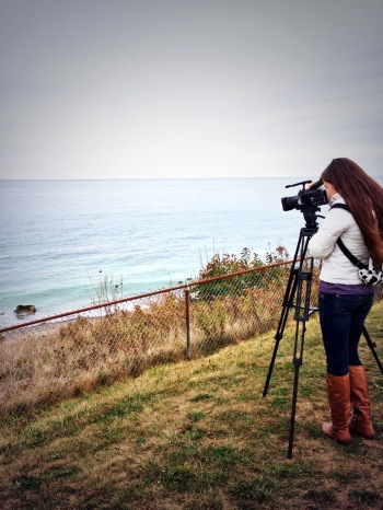 Abby Park captures footage for Scituate TV