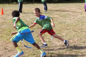 Flag football fall practice